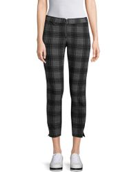 Hue - Plaid Cropped Trousers - Lyst