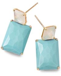Ippolita - Rock Candy Mother-of-pearl, Turquoise And 18k Gold Stud Earrings - Lyst