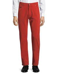 Robert Talbott - Solid Five-pocket Trousers - Lyst