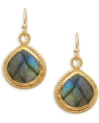 Alanna Bess - Faceted Labradorite Drop Earrings - Lyst