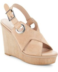 41f4278f5c8 BCBGeneration - Penelope Leather Open-toe Wedge Sandals - Lyst