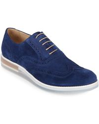 Bugatchi - Suede Brogue Shoes - Lyst
