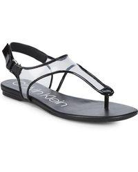 Calvin Klein - Shilo Clear-insert Sandals - Lyst