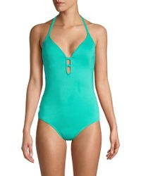 Laundry by Shelli Segal - Strappy Side One-piece Swimsuit - Lyst