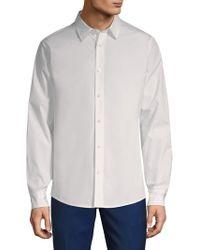 Vince - Reverse Placket Cotton Button-down Shirt - Lyst