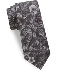 Saks Fifth Avenue - Tropical Flower Silk Tie - Lyst