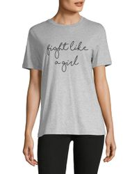 Lea & Viola - Graphic Cotton Tee - Lyst