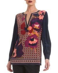 Trina Turk - Floral Lotta Silk Top - Lyst