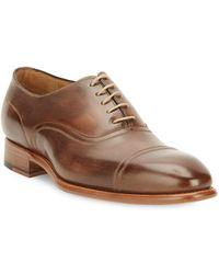 Carlos Santos - Cap-toe Leather Oxfords - Lyst