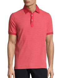 Saks Fifth Avenue - Striped Cotton Polo - Lyst