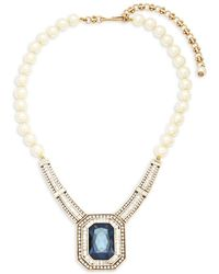 Heidi Daus - Faux Pearls And Crystals Statement Necklace - Lyst
