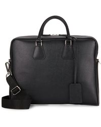 Saks Fifth Avenue - Leather Briefcase - Lyst
