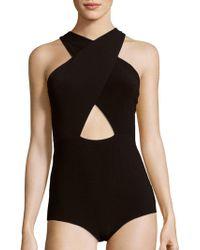 Alice + Olivia - Alyssia Solid One-piece Swimsuit - Lyst