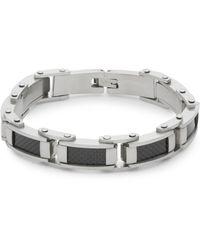 Saks Fifth Avenue - Steel Carbon Fibre Bracelet - Lyst