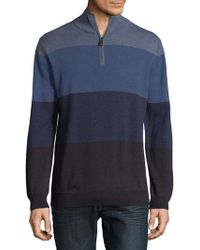 Bugatchi - Colorblock Merino Wool Jumper - Lyst