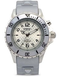 Kyboe - Power Silver Silicone & Stainless Steel Strap Watch/40mm - Lyst
