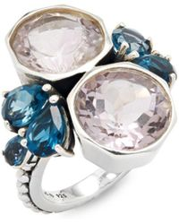 Stephen Dweck - Bumblebee London Blue Topaz & Amethyst Ring - Lyst