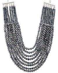 Saks Fifth Avenue | Layered And Faceted Bead Statement Necklace | Lyst