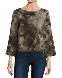 Feel The Piece - Tyler Jacobs X Cardiff Tie-dye Lace-up Sweatshirt - Lyst
