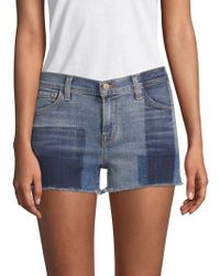 J Brand - 1044 Mid-rise Two-tone Denim Shorts - Lyst
