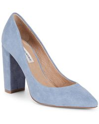 Saks Fifth Avenue - Suede Court Shoes - Lyst