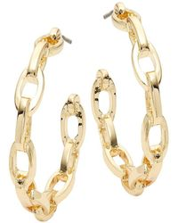 Kenneth Jay Lane - Oval Link Hoop Earrings - Lyst