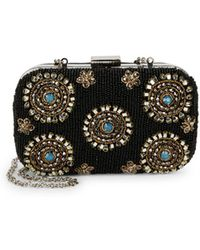 Circus by Sam Edelman Floral Bead Embellished Convertible Clutch
