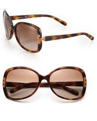 Tory Burch - Oversized Square Thin Rim Sunglasses - Lyst