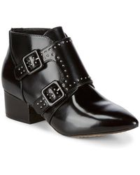 French Connection - Studded Leather Ankle Boots - Lyst