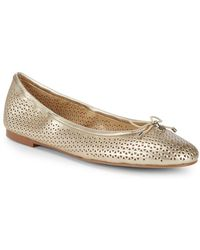 Sam Edelman - Felicia Perforated Patent Leather Ballet Flats - Lyst
