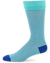 Saks Fifth Avenue - Mille Righe Stripe Cotton Crew Socks - Lyst