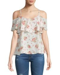 Bobeau - Floral Cold-shoulder Top - Lyst