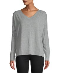 Jane And Bleecker - V-neck Long-sleeve Top - Lyst