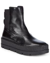 PUMA - Fenty X Leather Ankle Boots - Lyst