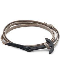 Miansai - Stainless Steel & Leather Anchor Bracelet - Lyst