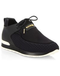 Balmain - Quilted Slip-on Sneakers - Lyst