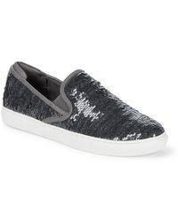 a8d7ae9daf3 Lyst - Steve Madden Evann Blush Sequin Sneakers