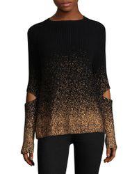 Zoe Jordan - Ribbed Metallic Cut-out Sweater - Lyst