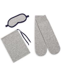 Saks Fifth Avenue - Three-piece Cashmere Textured Sleeping Mask, Socks & Pouch Set - Lyst