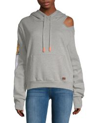 Peace Love World - Cut-out Hoodie - Lyst