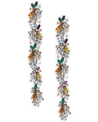 Cara - Floral Leaf Earrings - Lyst