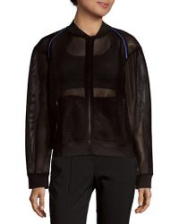 Alala - Zip-up Mesh Bomber - Lyst