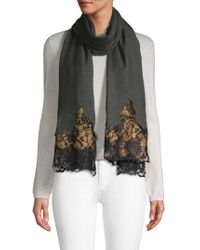 Saachi - Floral Lace Wool Scarf - Lyst