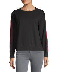 Lea & Viola - Roundneck Cotton Sweatshirt - Lyst