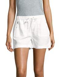 Saks Fifth Avenue - Elasticized Drawstring Linen Shorts - Lyst
