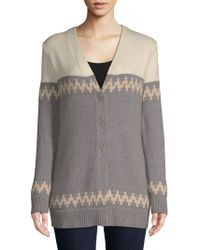 ESCADA - Colorblock Wool Cardigan - Lyst