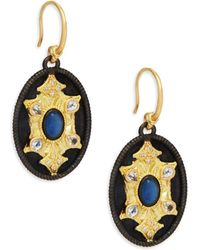 Armenta - Old World Sapphire & Yellow Gold Medallion Drop Earrings - Lyst