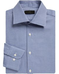 Ike By Ike Behar - Regular-fit Houndstooth Dobby Cotton Dress Shirt - Lyst