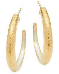 Gurhan - Sterling Silver Hammered Earrings - Lyst