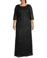 Adrianna Papell - Plus Embellished Gown - Lyst